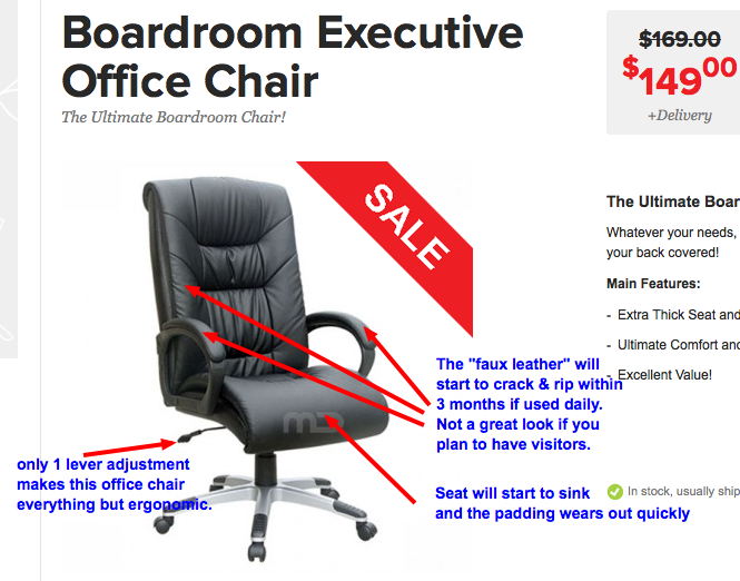 office-chairs-review-49 Chairs to AVOID: Review of IKEA, Officeworks Boardroom Executive Office Chairs Reviews Seating