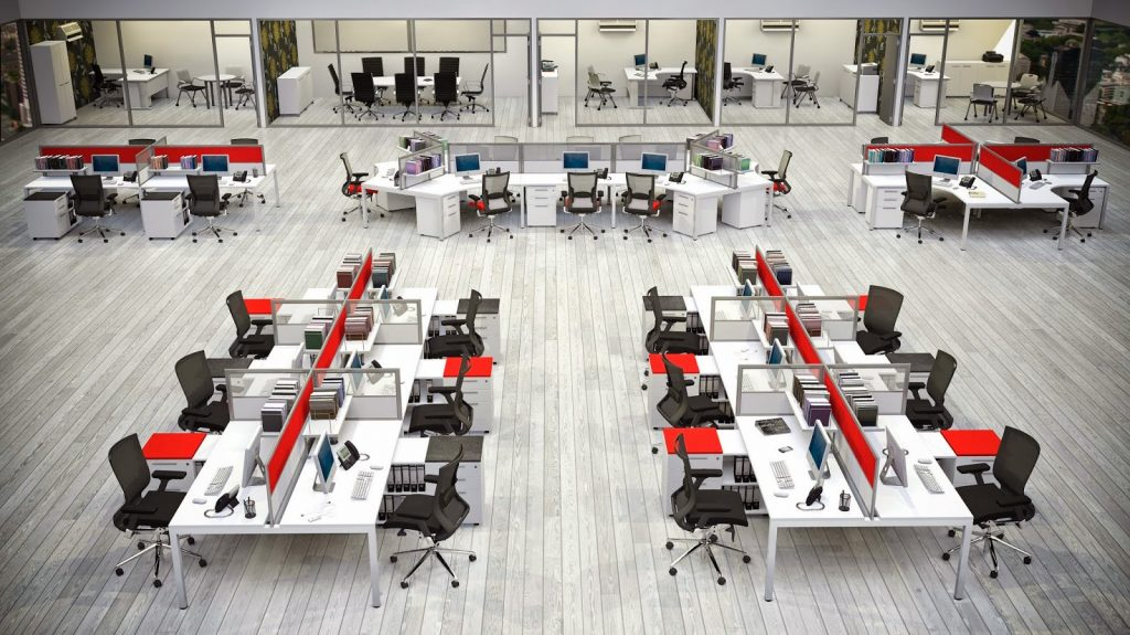 shared-office-desks-5-1024x575 5 Big Trends in Modern Office Design Design Design Ideas Future of Work Inspiration