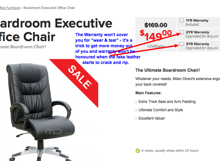 warranty-issue-37 Chairs to AVOID: Review of IKEA, Officeworks Boardroom Executive Office Chairs Reviews Seating