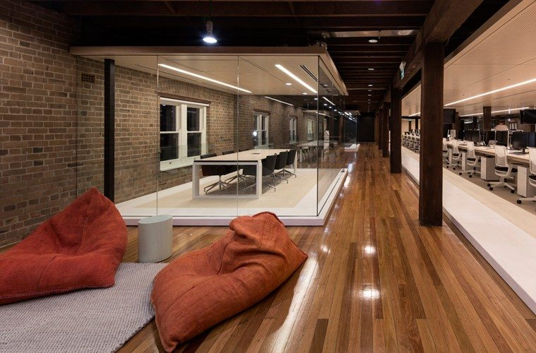 Ansarada-Lounge Ansarada Office Design by Those Architects and End of Work Design Ideas Inspiration Offices We Love