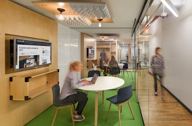 Coworking-at-woework-office The Best Co-Working Offices in the World Inspiration