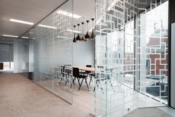 Glass-Partition-5-360x240 Bright ideas with Less Colour: 3 Incredible Monochrome Office Designs Design Ideas Inspiration